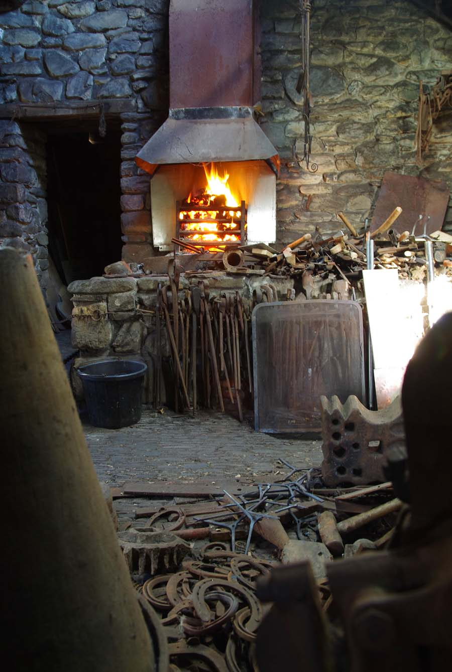 Inside the Blacksmiths workshop