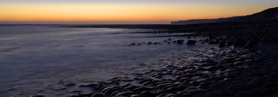 Llantwit Major sunset panorama
