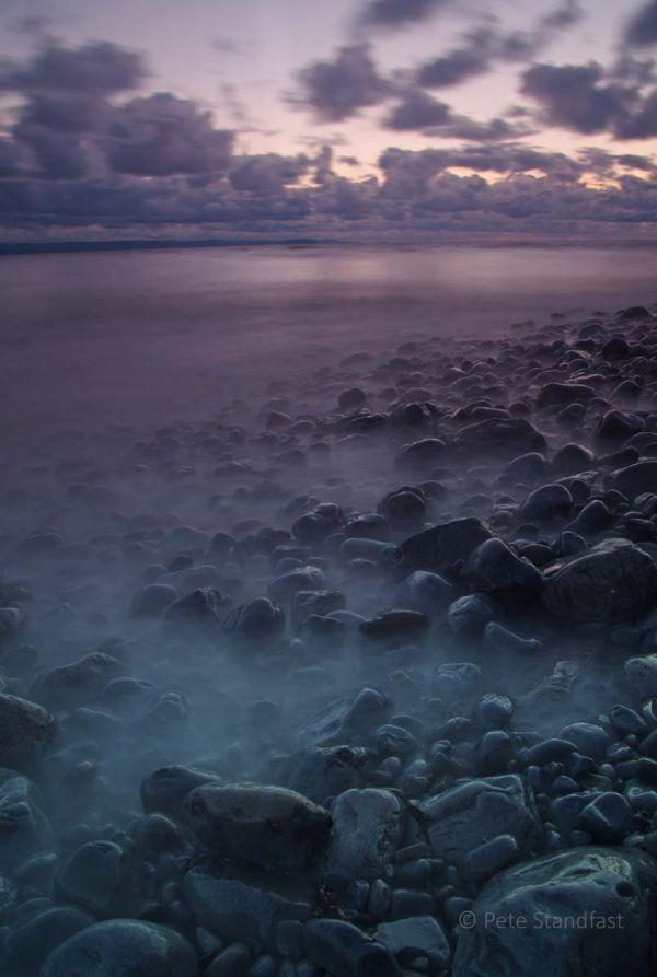 Llantwit Major seashore at dusk V
