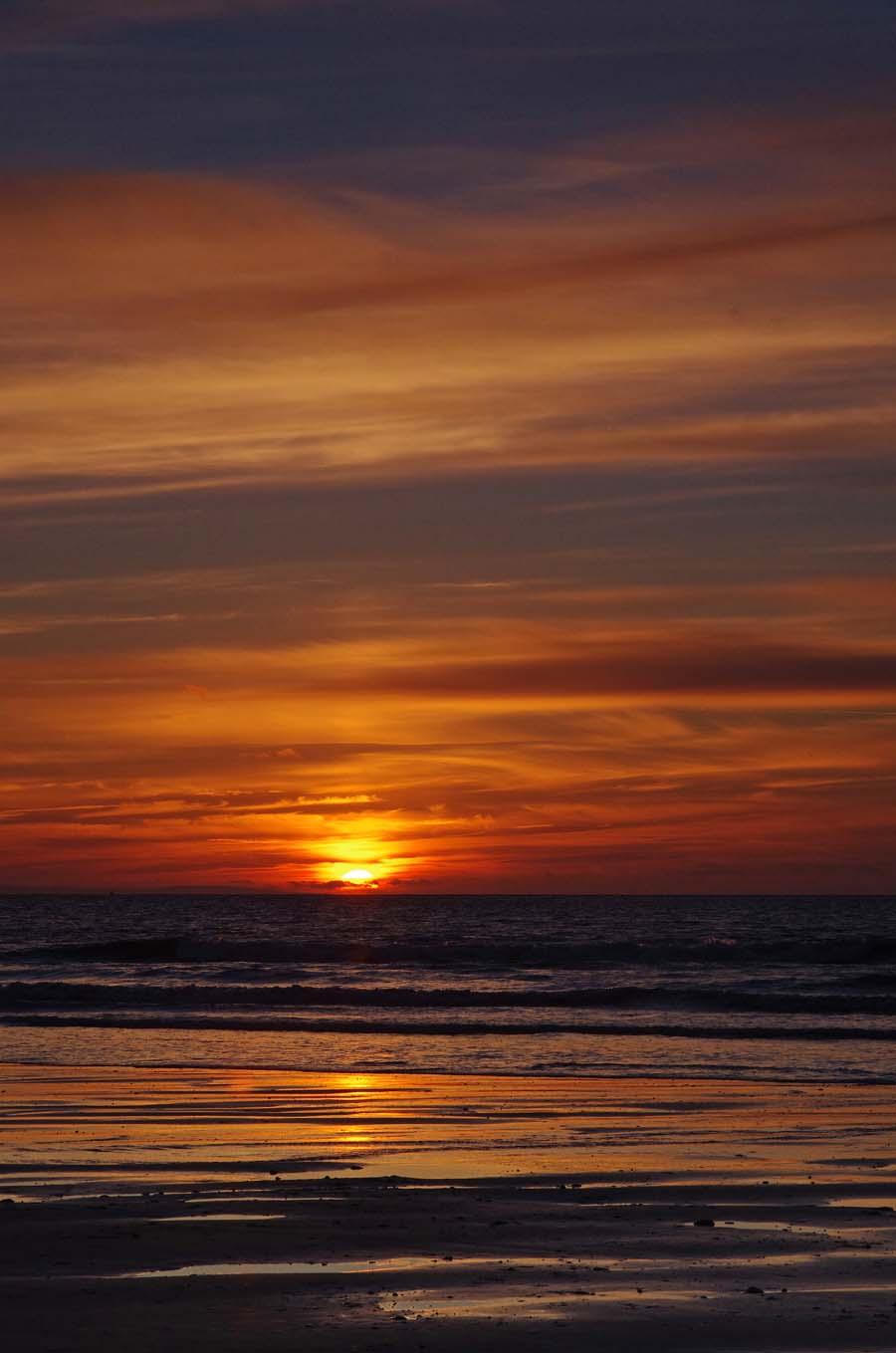 Sunset at Ogmore beach