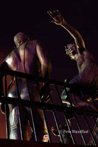"""People Like Us"" statue, Cardiff Bay"