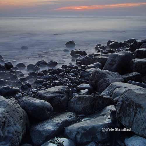 Seashore at dusk