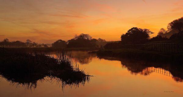 Sunrise over Afon Ogwr