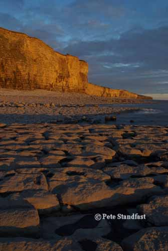 Sunset on the rocks, Llantwit Major, south Wales