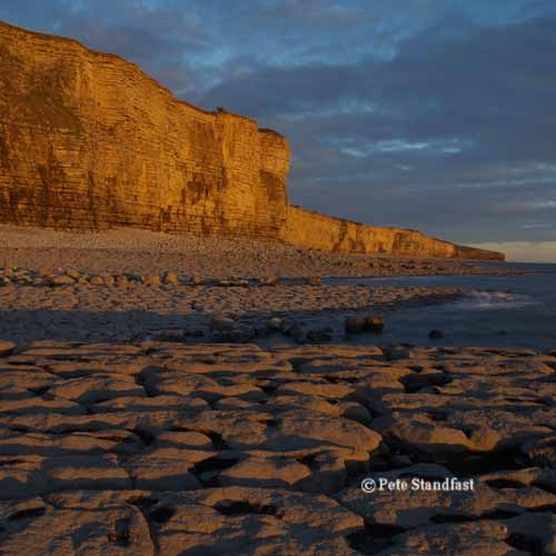 Sunset on the cliffs, Llantwit Major
