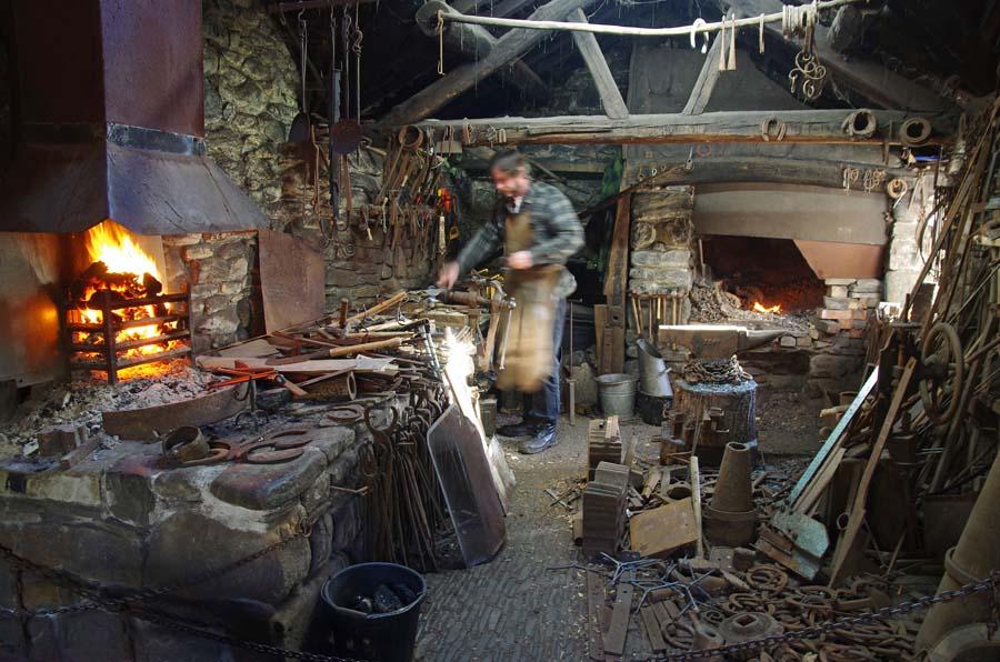 The Blacksmith at work