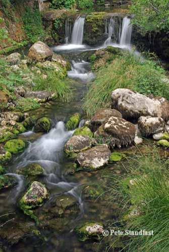 A waterfall at Benaojan, Andalucia, Spain
