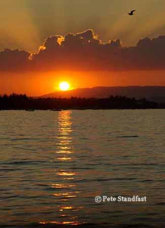 Sunset over Lake Garda, Italy