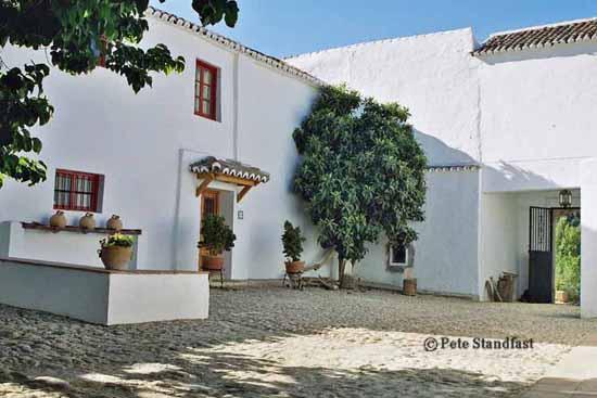 Spanish courtyard, Cortijo Las Piletas, Ronda, Spain