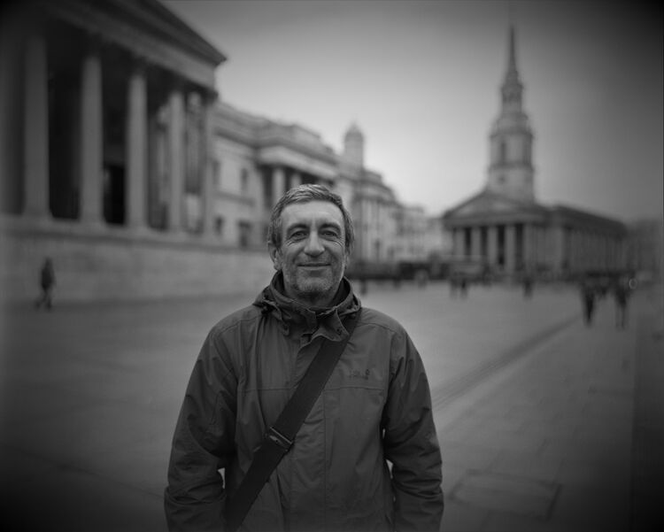 Trafalgar Square street portrait: The Tax Inspector.