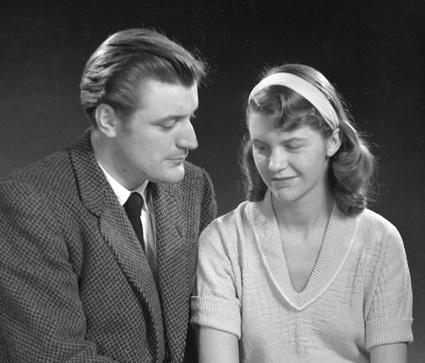Ted Hughes and Sylvia Plath.