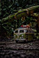 Camper van in the jungle