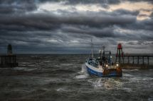 Fishing boat at Whitby