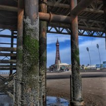 Blackpool Tower through the pier