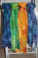 Hand painted silk scarves by Pam Canning