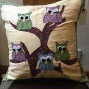 Owl Cushion by Carol Bairner