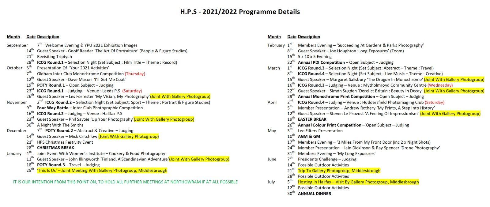 2021-2022 Program