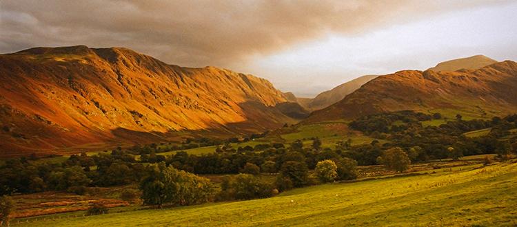 Lake District Autumn Evening Glow