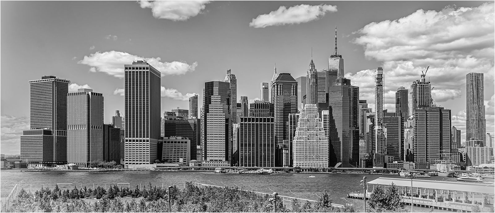 View Of Finanical District From Brooklyn