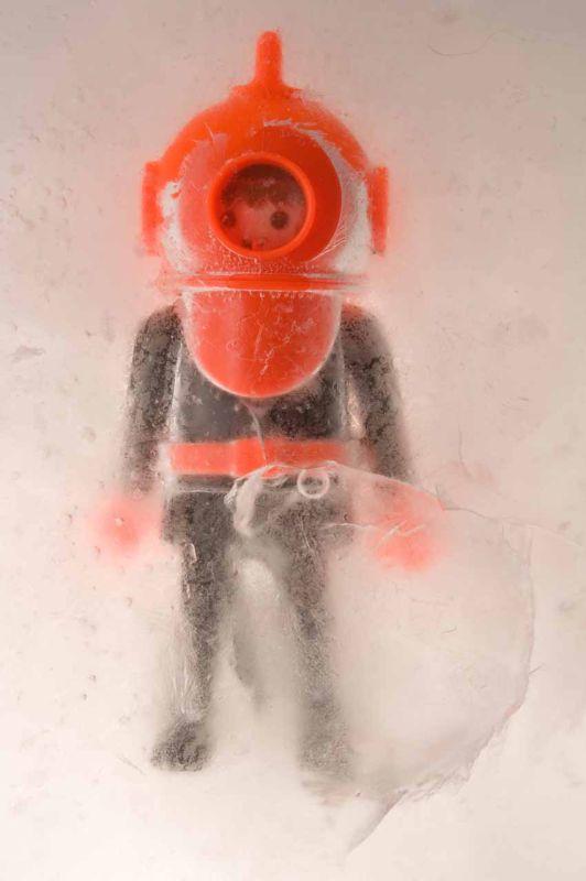 frozen diver