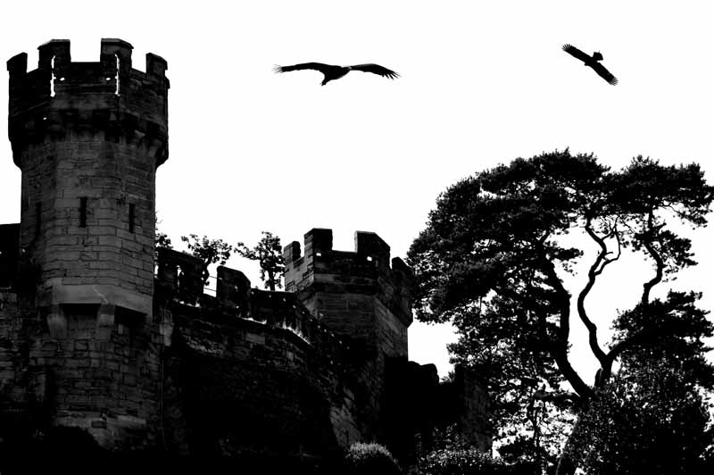 Flying high above Warwick Castle