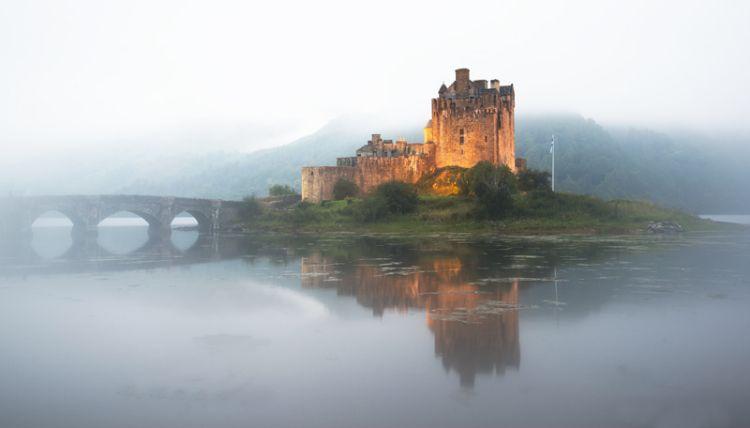Misty Eilean Donan Castle