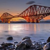 Forth Rail Bridge at Sunset