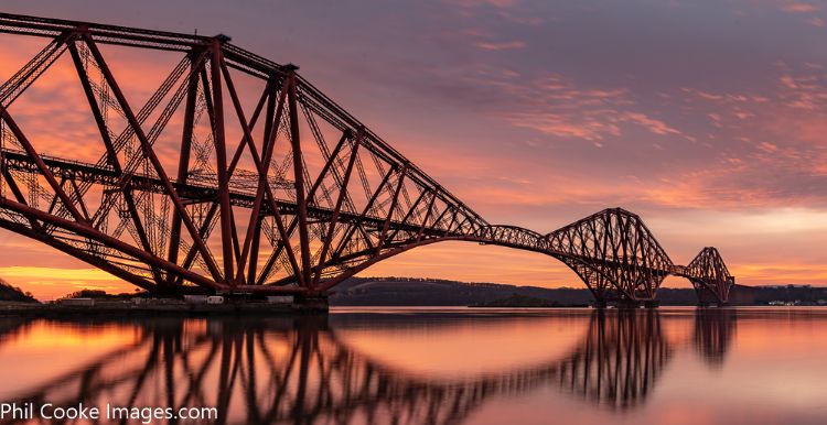 Forth Rail Bridge Sunrise
