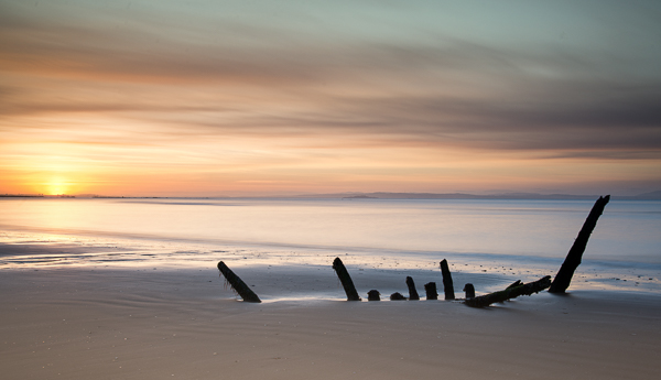 The Wreck at Sunset