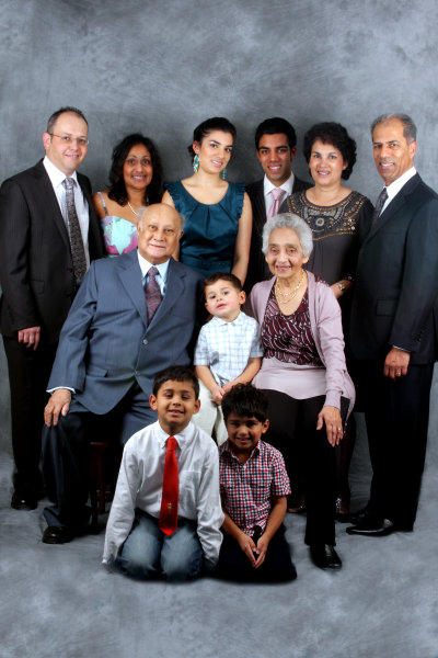 Family group portrait photography.