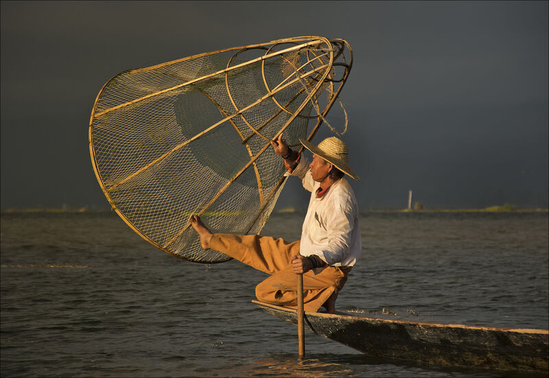 Highly Commended: Inle Fisherman