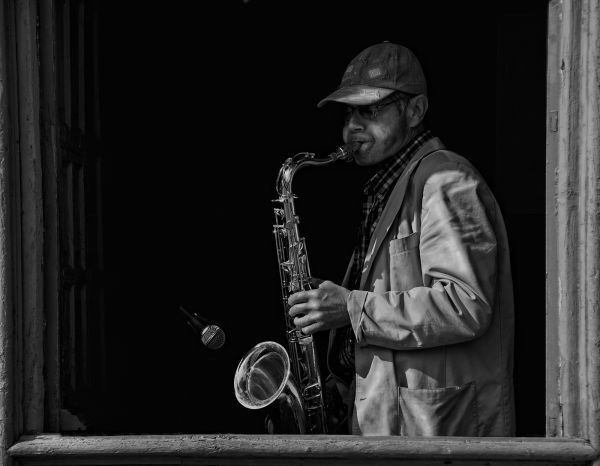 The Sax Player, 2nd Place, Geoff France