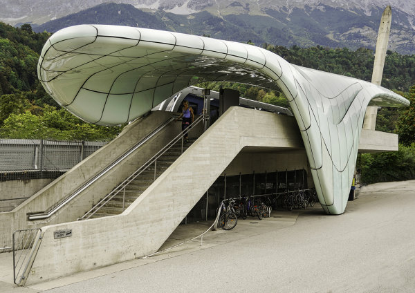 2nd Place - Zaha Hadids Innsbruck Tram Station