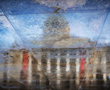 Commended: National Gallery Rainy Pavement Reflection