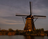 Highly Commended - Kinderdijk Windmill in Evening Light