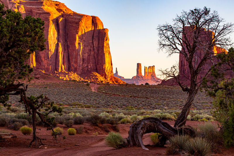 1st Place: Early Dusk in Monument Valley