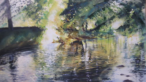 River Skirfare reflections - SOLD