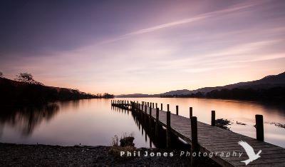 Twilight Coniston jetty