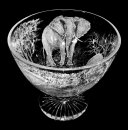 Star Cut Bowl with Elephant Scene 1