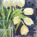 "#30days20 challenge Tulips. Oil on board 8x10"" SOLD"