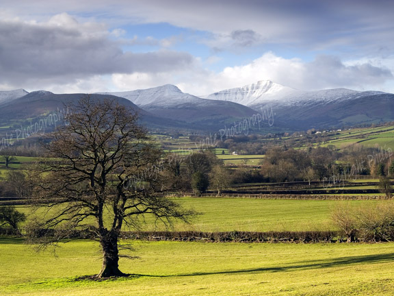 Pen y Fan and Cribyn, The Brecon Beacons.