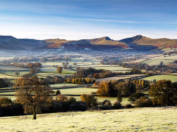 Autumn landscape,Brecon Beacons.
