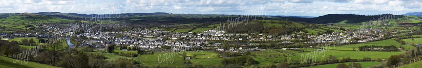 Panoramic view of Brecon.