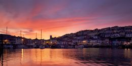 Sunset, Brixham Harbour. Limited Edition of 100.