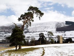 Llangasty in winter 1.
