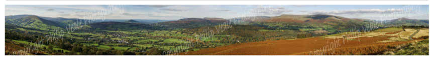 Panoramic view from Llangynydr Moors. Limited Edition of 25.