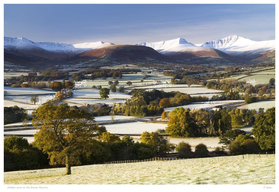 October Snow, The Brecon Beacons.