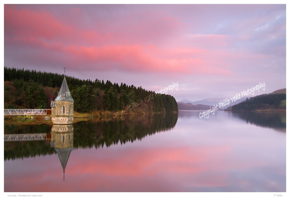 Sunrise, Pontsticill Reservoir.