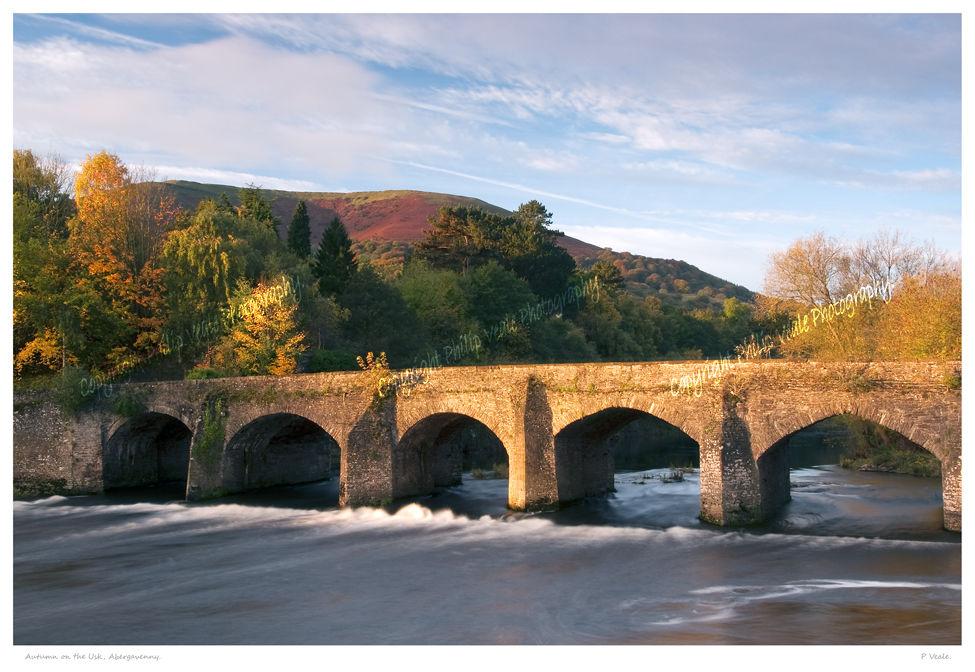 Autumn on the Usk, Abergavenny.