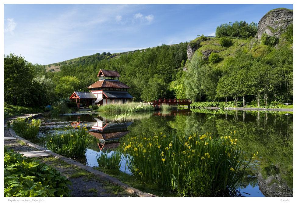 Pagoda at the lake,Ebbw Vale.